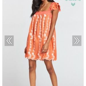 NEW Show Me Your Mumu Melody Silk/Sheer Mini Dress